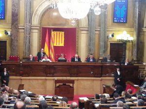 La mesa del Parlament ha llegit la declaració institucional del dia contra la LGTBfòbia