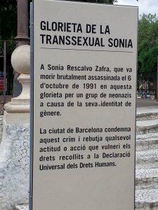 INAUGURADA GLORIETA DE LA TRANSSEXUAL SÒNIA