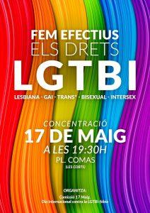 Manifest 17 de Maig dia internacional contra la LGTBI-fòbia